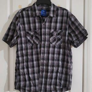 Michael Brandon size XL black and gray button up